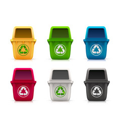 Ecological trash set vector