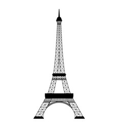 Eiffel tower on white vector