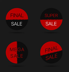 final sale labels vector image