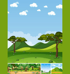 four different scene nature place in vertical vector image