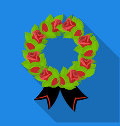 funeral wreath icon in flat style isolated on vector image