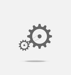 gear transmission mechanical belt conveyor flat vector image