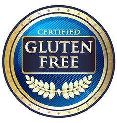 Gluten Free Blue Label vector
