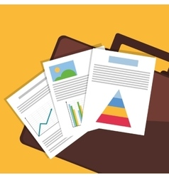 Graph charts paper documents office related items vector