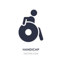 Handicap icon on white background simple element vector