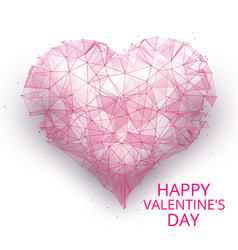 happy day valentines isolated on white background vector image