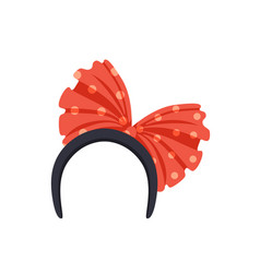 Headband with red bow masquerade decor carnival vector