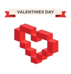Heart 3d isometric icon vector image
