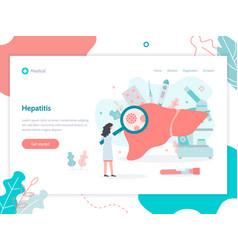 Hepatitis medical web banner vector