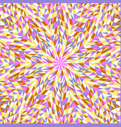 Hypnotic colorful geometrical dynamic radial vector