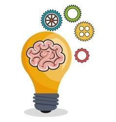 idea think creativity design vector image