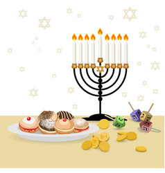 Jewish holiday hanukkah background vector