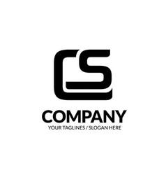 Letter cs geometric strong logo vector