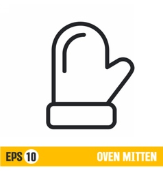 Line icon oven mitten vector