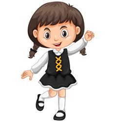 little girl in black skirt vector image vector image