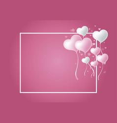Love concepts of heart balloon vector