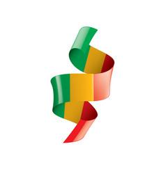 Mali flag on a white vector