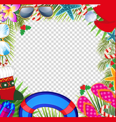 Merry christmas and happy new year border in a vector