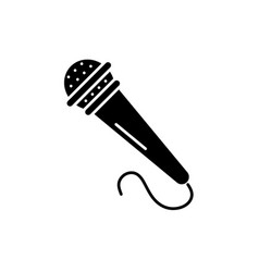 microphone black icon sign on isolated vector image