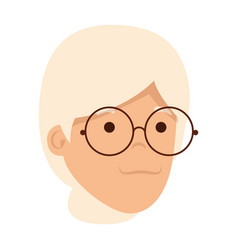 old woman head character vector image