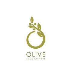 olive logo design premium vector image