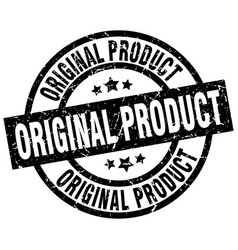 Original product round grunge black stamp vector
