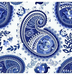 Paisley colorful seamless pattern vector image