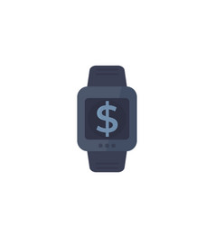 Payment with smart watch vector