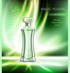 Perfume advertising realistic poster vector