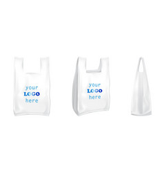 Plastic t-shirt shopping bags isolated 3d vector