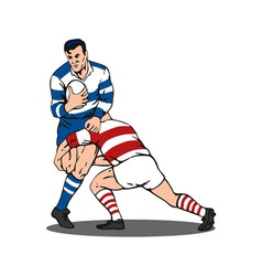 Rugby Player Tackled vector