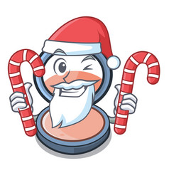 Santa with candy blush is isolated with the vector