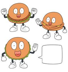set of burger cartoon vector image