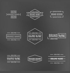 Set of vintage emblems with thin lines vector