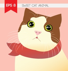 Sweet cat animal vector image