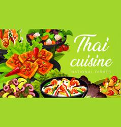 Thai cuisine asian food thailand dishes vector