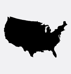 The united states of America map silhouette vector