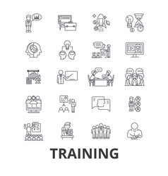 training business school online course learning vector image