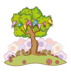 Tree at nature vector