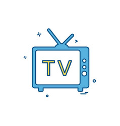tv videos movies news icon design vector image