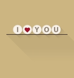 Valentine I Love You Lettering stylish text vector image