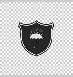 Waterproof shield and umbrella water protection vector