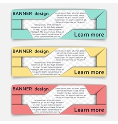 Web banner design vector
