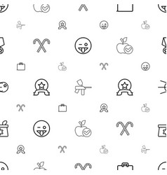 White icons pattern seamless background vector