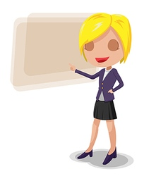 Woman worker cartoon character presentation vector