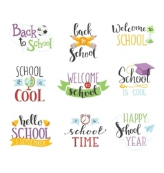 Back to school text set vector image vector image