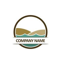 Beach-Logo-380x400 vector image vector image