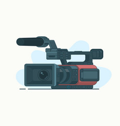 camcorder or video line icon isolated on white vector image vector image