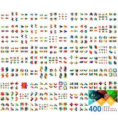 huge mega collection of web banner design vector image
