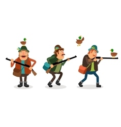 hunter with gun vector image vector image